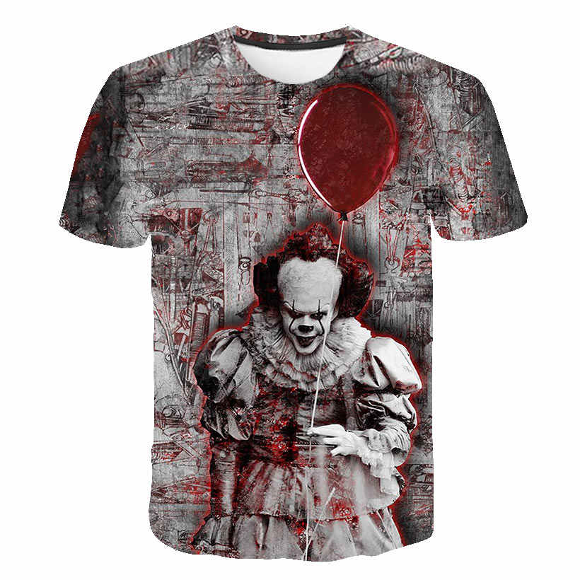 Film Horror Si Penny Wise pagliaccio 3D stampato T-Shirt teen boy hip-hop di strada di usura T-Shirt 90s ragazzo vestiti cool top
