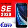 Para o iphone se 2020 protetor de tela de vidro protetor de tela de proteção iphonese para i telefone se2 se2020 temperado folha espelho ise ip 3 pçs