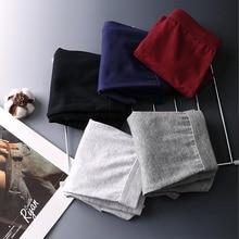 4 PCS Boxer Men Underwear Cotton Underpants Solid Soft Panties Male Comfortable