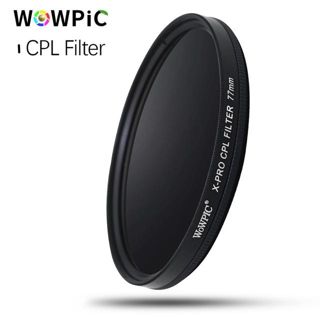 Wowpic cplフィルター偏光フィルターを 49 ミリメートル/52 ミリメートル/55 ミリメートル/58/62/ 67/72/ 77/ 82 ミリメートルカメラ一眼レフカメラ用レンズpk zomei