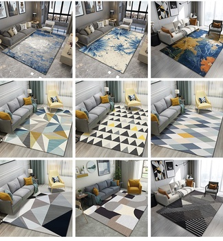 Mat Room Area Rug Floor home Carpet For Living Room Bedroom Large Trellis Cat Tapete Floor Mat European Style Carpet Pattern