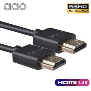 Image 2 - AAO HDMI kablosu 1.5m yüksek hızlı HD 1080P projektör HDMI kablosu HDTV için PS4 bilgisayar TV kutusu 3D video Cabo projektör aksesuarları