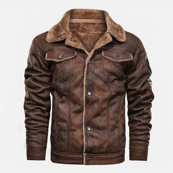Leather & Fleece Biker Jacket 1