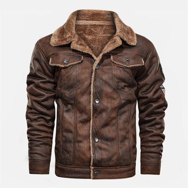 Leather & Fleece Biker Jacket 1