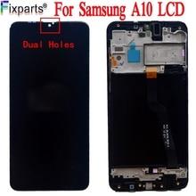 100% ทดสอบการทำงานสำหรับ Samsung Galaxy A10 LCD Touch Screen Digitizer ASSEMBLY สำหรับ Samsung A10 LCD SM A105F LCD A105F/DS LCD