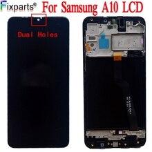 100% протестированная работа для Samsung Galaxy A10 ЖК сенсорный экран дигитайзер в сборе для Samsung A10 LCD SM A105F LCD A105F/DS LCD