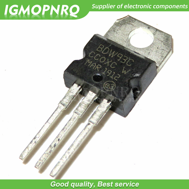 10PCS BDW93C BDW93 TRANSISTOR NPN 100V 12A TO-220 New Original Free Shipping