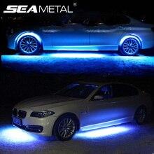 12V lampa Underglow Auto lampa atmosfera z zdalnym systemem oświetlenia podwozia taśma LED RGB do światła samochodowe elastyczny pasek