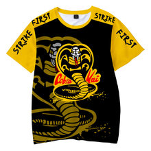 2021 Summer 3D Printing Cobra Kai Pattern Men's Short-Sleeved Trend Casual T-Shirt Street Comfortable And Breathable Clothing