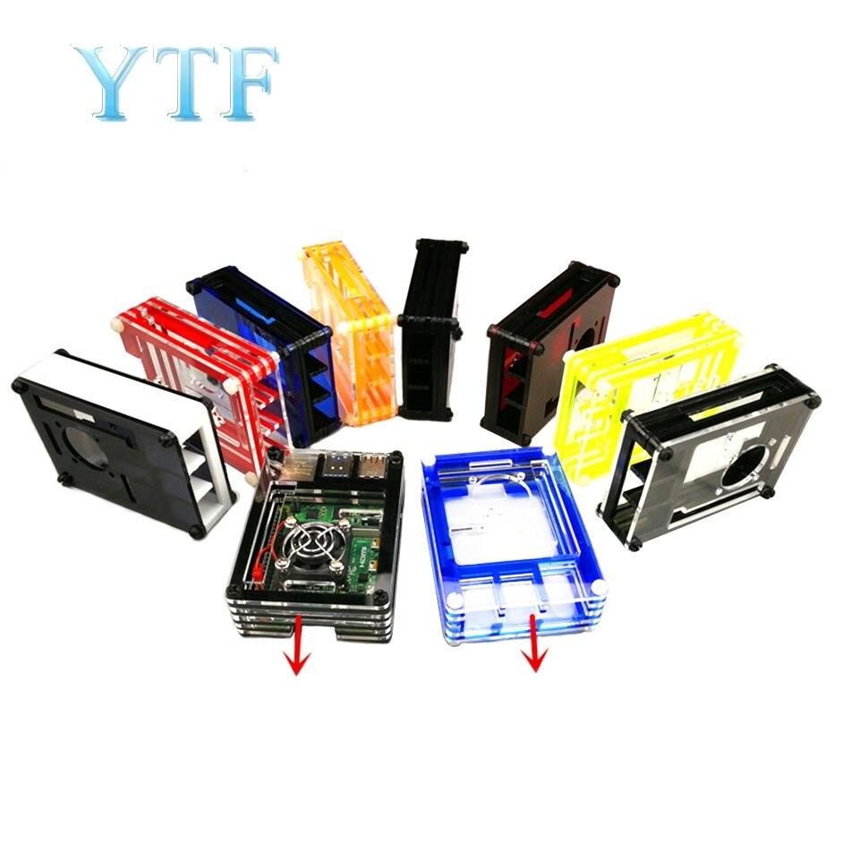 Raspberry Pi 4 B Shell 9 Layers Red Blue Black Yellow Acrylic Square