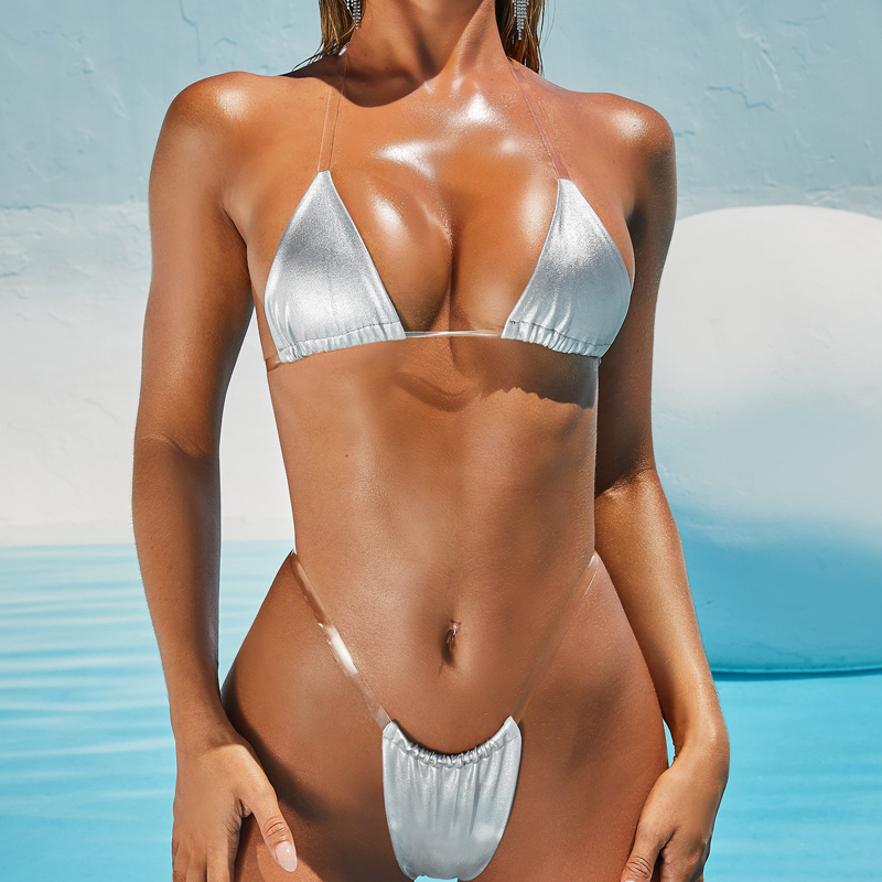 Crochet Lace Thong G String Sexy Bottom Secret Brazilian Bikini Micro Swimwear