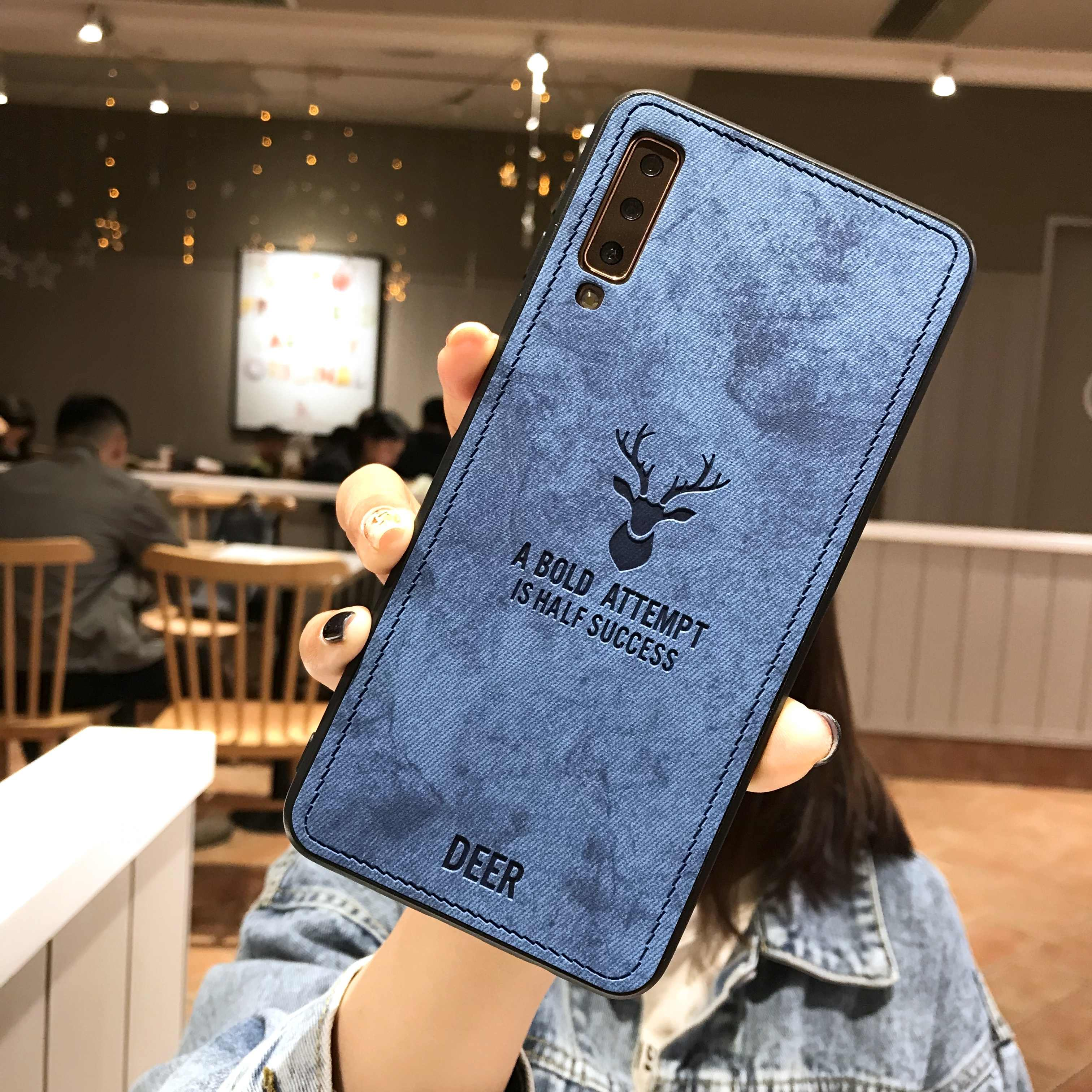 Rusa Kain untuk Huawei P30 P20 Pro P20 Lite P10 Mate 20 10 Nova 4 3 3i Kehormatan 10 9 8 7C 8X 7X Cover Kulit + Case Silikon