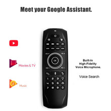 G7V Pro-Teclado retroiluminado con Sensor giroscópico, dispositivo inalámbrico de 2,4G con control remoto por voz de Google, compatible con decodificador H96 MAX, Android y PC