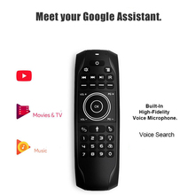 G7V Pro Backlit Russian Keyboard Gyro Sensor 2.4G Wireless Air Mouse Google Voice Remote G7 V Pro for H96 MAX Android TV BOX PC