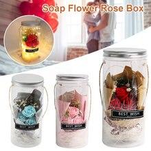 Мыло цветок Роза коробка каменщик свет батарея работает сказочные