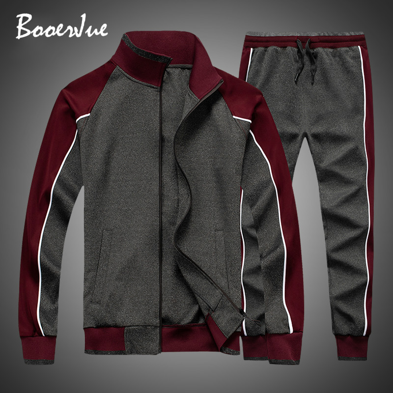Tracksuit Men 2020 Spring Zipper Jackets+Pants 2 Pieces Sets Male Slim Sportswear Brand New Casual Fashion 2PCS Men's Streetwear