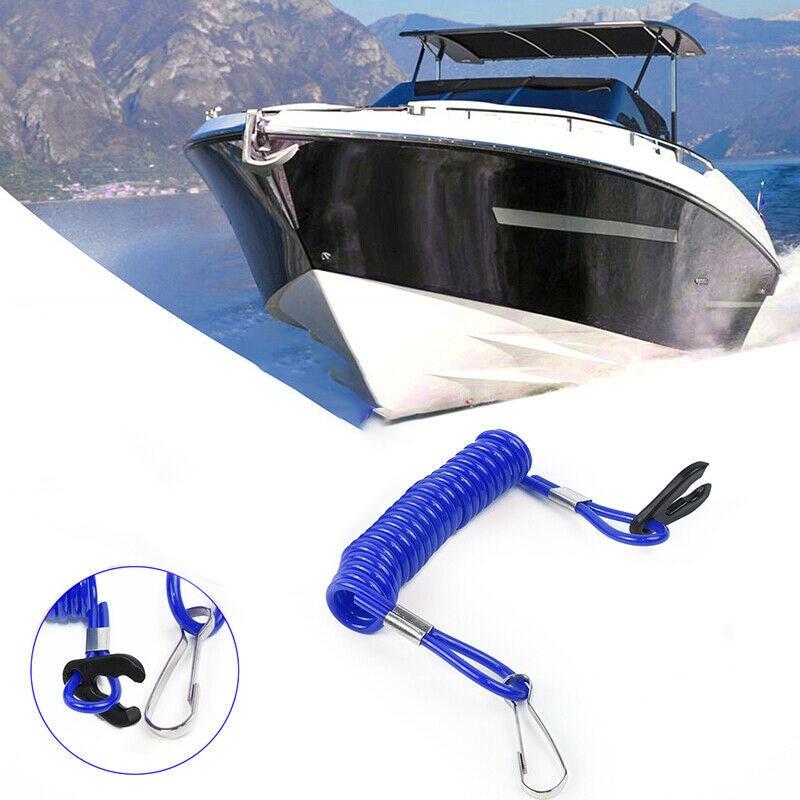 1pcs Boat Kill Switches Key Lanyard Safety Rope For Yamaha PWC Jet Ski Wave Runner Stop Kill Key Floating Safety Lanyard Honda