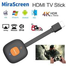 New MiraScreen G18 4K Dual Band Wireless HDMI DLNA Miracast AirPlay Mirror TV Stick Wifi Di