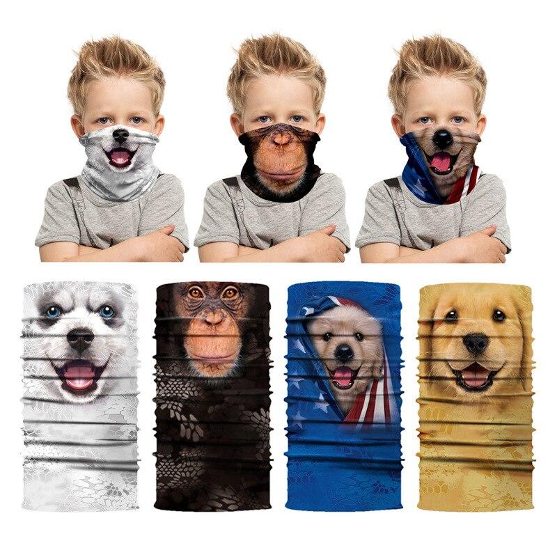 Детская бандана для езды на велосипеде, скейтборде, маска-бабочка для улицы, шеи, гетры, защитный чехол для лица, головной убор с 3D-принтом жи...