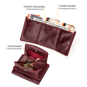 Image 5 - מיני נשים ארנק וארנקים יוקרה מותג קטן מטבע ארנק ארנקים רזים RFID Cartera Mujer דק גבירותיי ארנקי כסף שקית portfel