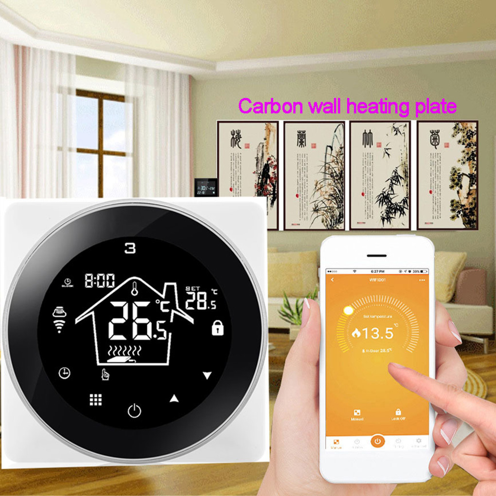 Intelligent Thermostat Electric Heating Wall-Hung Boiler Mobile Phone WiFi Control Thermostat