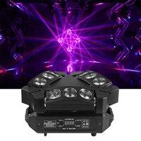 RGBW 4in1 9x12w triangolo ragno LED fascio di luce a testa mobile luci a testa mobile a fascio LED colorate con grande effetto per la festa