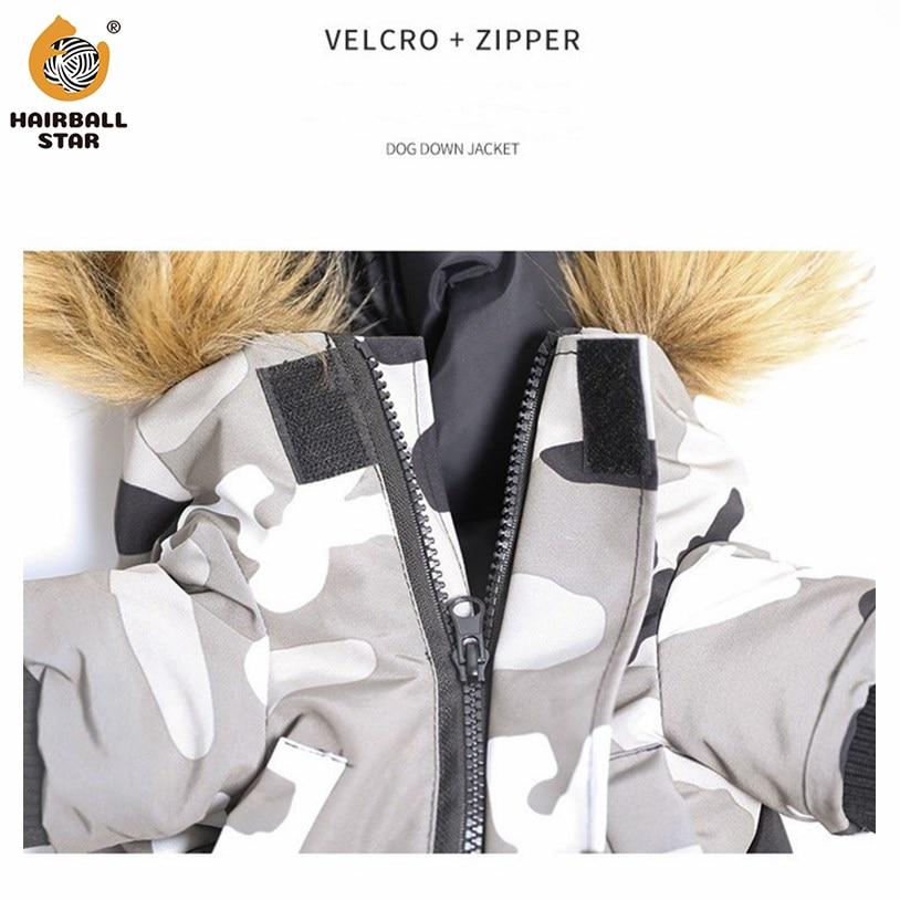 Зимние теплые с рисунком собачки и котика куртка на пуху, одежда для собак, легкий пуховик на утином пуху с воротником с капюшоном французского для бульдога Чихуахуа собаки пальто лыжный костюм-2