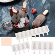 Silicone Ice Cream Mold DIY Homemade Popsicle Molds Freezer Juice 4 Cell Big Size Ice Cube Tray Popsicle Barrel Maker Mould Tool