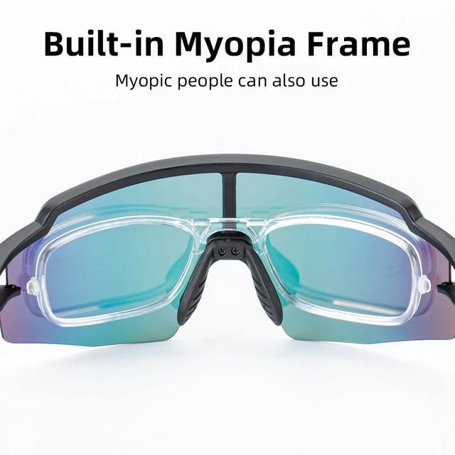 ROCKBROS Photochromic Cycling Glasses Bicycle Glasses Sports Men's Sunglasses MTB Road Bike Eyewear Protection Goggles 3 Colors 4