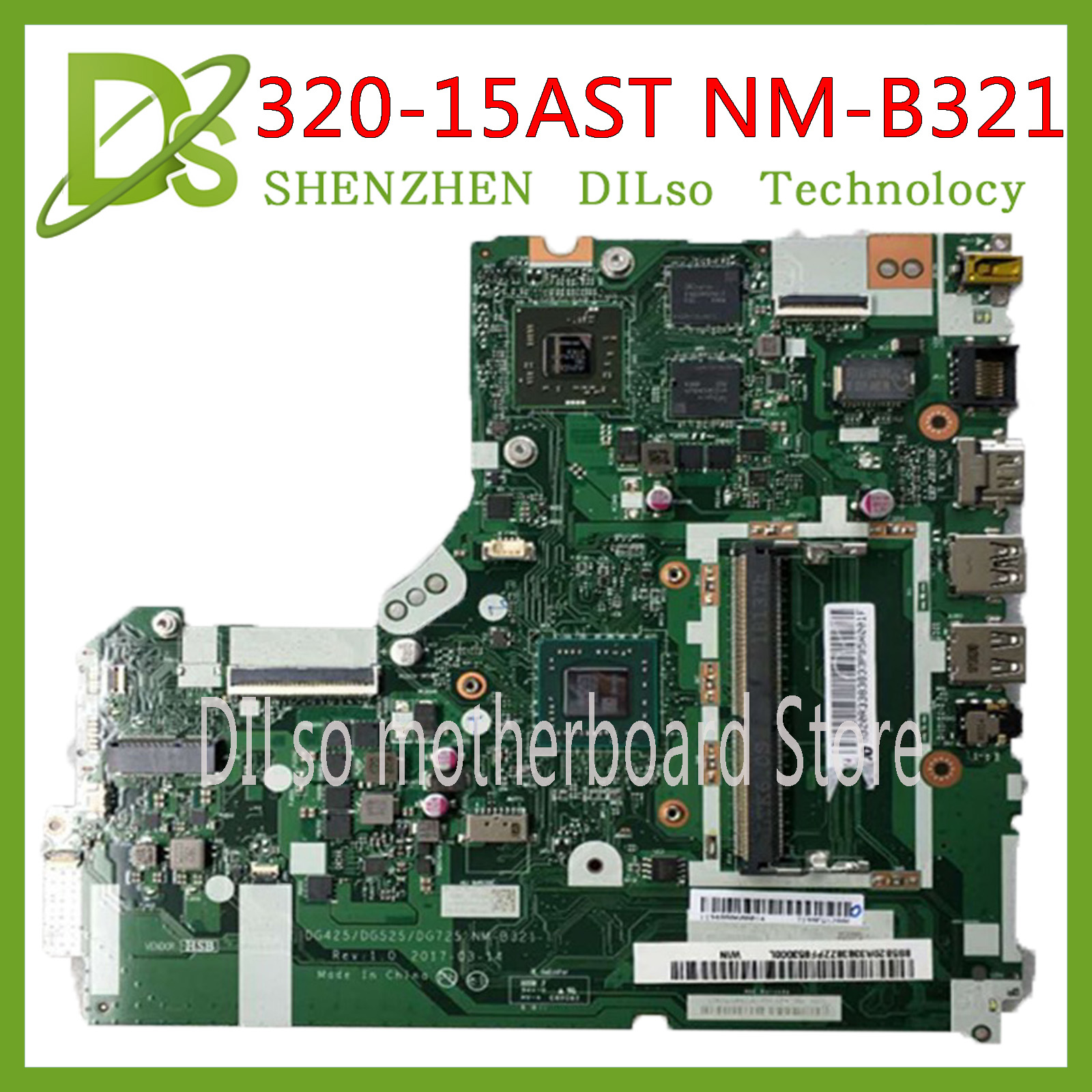 KEFU NM-B321 <font><b>motherboard</b></font> for <font><b>Lenovo</b></font> <font><b>320</b></font>-15ACL <font><b>320</b></font>-15AST <font><b>motherboard</b></font> DG425 DG525 DG725 NM-B321 AMD CPU Test OK original work image