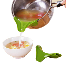 Креативная силиконовая противоскользящая Воронка для супа с носиком для горшков, кастрюль, миски и банки, кухонный гаджет, инструмент