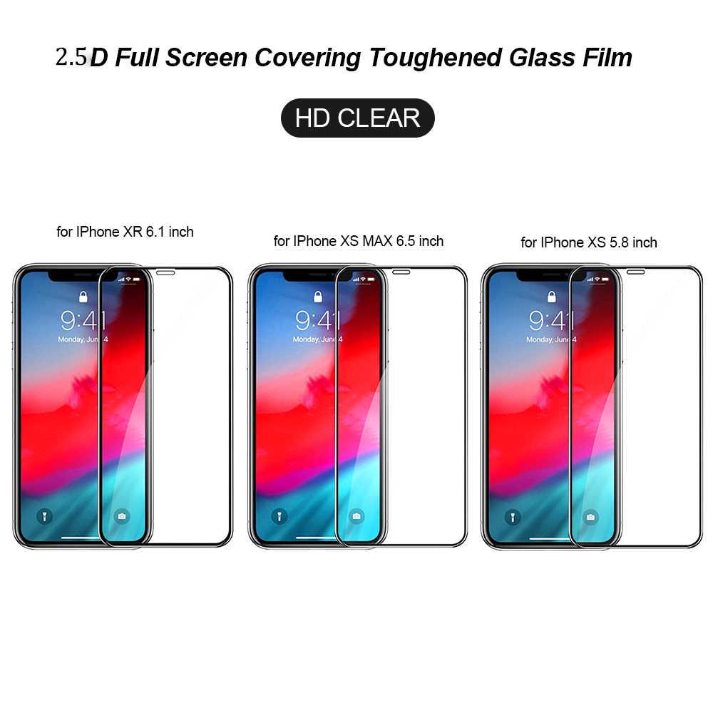 غطاء كامل من الزجاج المقسى لهاتف آيفون 11 برو ماكس XS XR X 11 واقي للشاشة مقاوم للانفجار لهاتف آيفون 6 6s 7 8 Plus 5 5s 5C SE