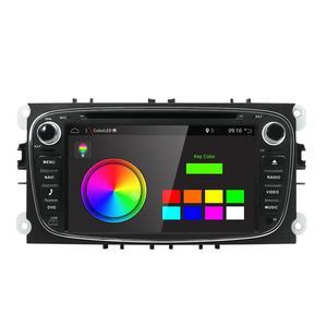Image 2 - DSP Android 10.0 samochodowy odtwarzacz DVD 2 Din radio GPS Navi dla Ford Focus Mondeo Kuga C MAX S MAX Galaxy Audio Stereo jednostka główna