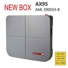 חדש טלוויזיה תיבת AX95 Amlogic S905X3 חכם אנדרואיד 9.0 4GB RAM 32GB 64GB 128GB ROM 4K HD תמיכת Dolby Youtube מדיה נגן