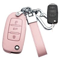 Leather Car Key Cover Case  1