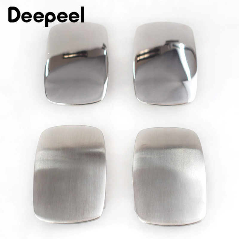 Deepeel 1pc 39mm Stainless Steel Belt Buckle Metal Brushed Smooth for Men's Waistband Head DIY Jeans Accessories Leather Craft