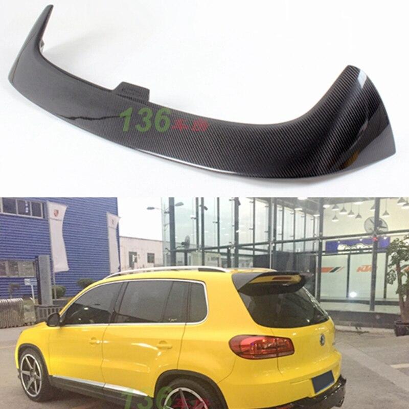 Para Volkswagen VW Tiguan Spoiler 2009-2016 Novo Carro Tiguan Cauda Decoração De Fibra De Carbono Da Asa Traseira Tronco Spoiler