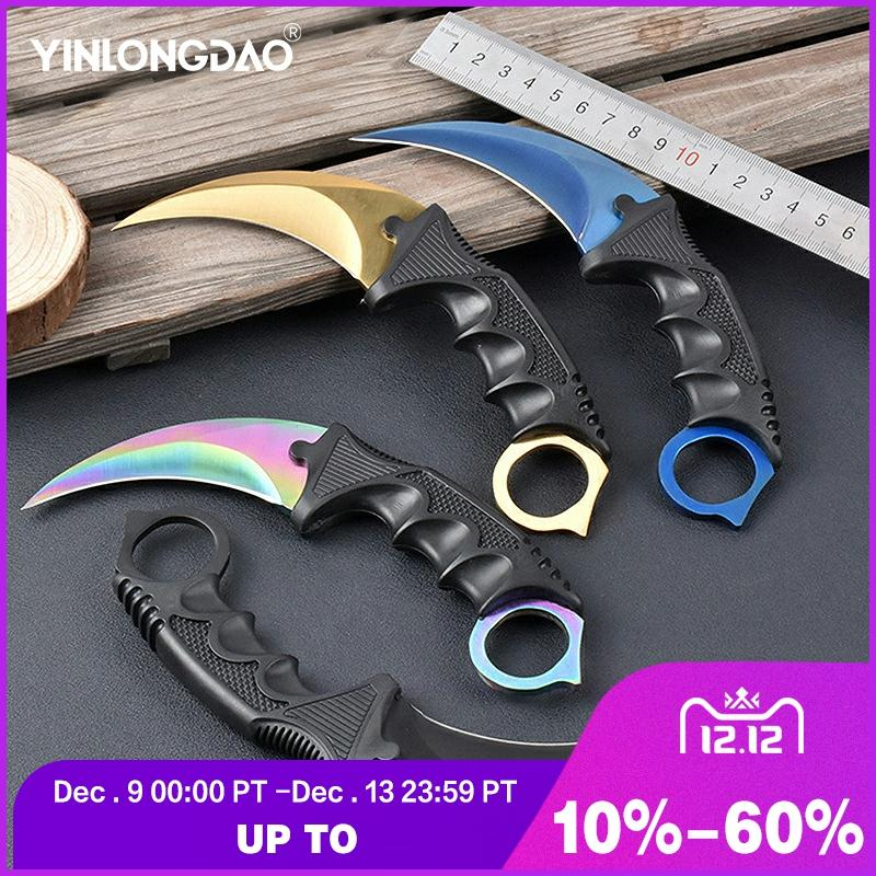 CS GO Tactical Claw Neck Knife Steel Claw Knives Hunting Knife Camp Hike Outdoor Self Defense Hunting Survival DIY Tools Knife