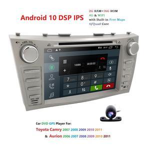 """Image 2 - 1024*600 2Din dört çekirdekli 8 """"Android 10 araç dvd oynatıcı GPS navigasyon Toyota Camry 2007 2008 2009 2010 2011 kafa ünitesi araba Stereo radyo"""