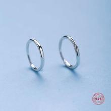 Doreen Box Glossy/Spiral Circle  925 Sterling Silver Spiral Earrings Trendy Simple Hoop Earrings For Women & Girl Jewelry 1 Pair pair of trendy solid color circle long earrings for women