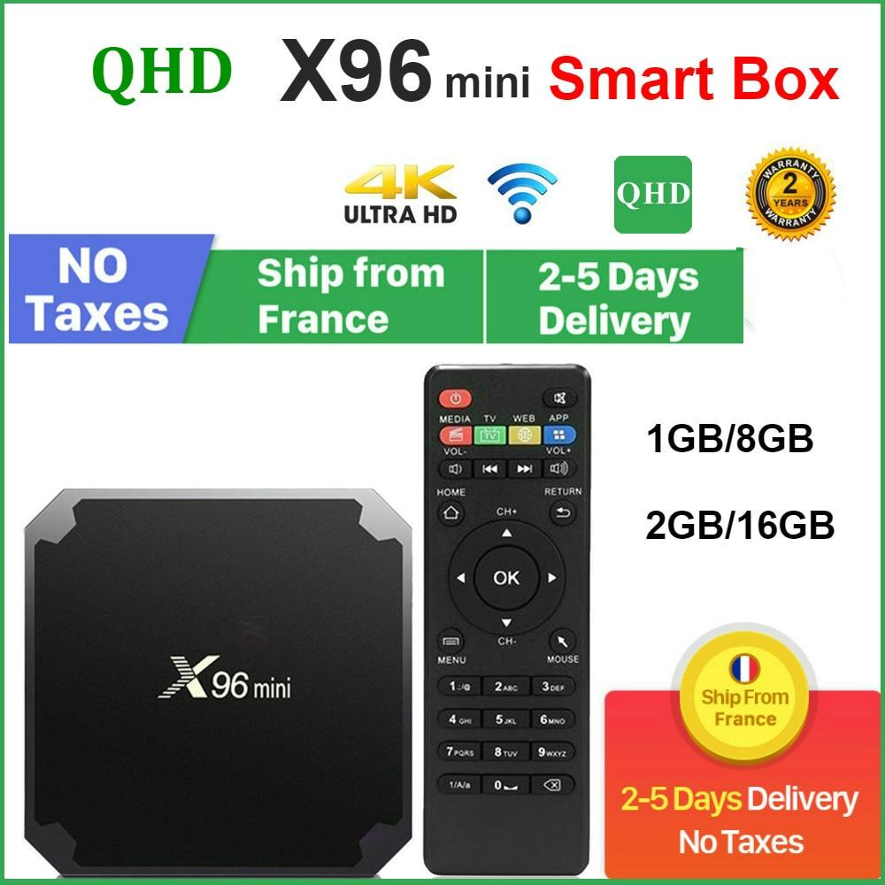 Original QHDTV X96 Mini Set-top box Android 9.0 8GB 16GB AMLOGIC S905W quad CORE X96Mini leadcool Android Lxtream Smart TV box