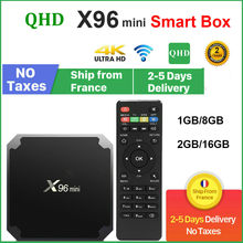 Original QHDTV X96 Mini Set-top box Android 9.0 8GB 16GB AMLOGIC S905W quad CORE X96Mini leadcool Android Lxtream Smart TV box