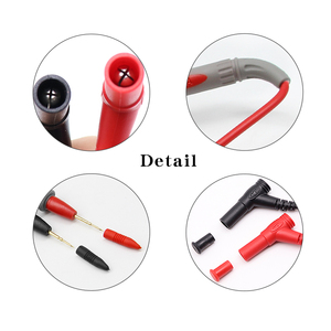 1Pair Universal Digital 1000V 10A 20A Thin Tip Needle Multimeter Multi Meter Test Lead Probe Wire Pen Cable Multimeter Tester