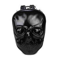 Men Skull shape Backpack Men PU Leather Backpack For Teenagers Casual Men Backpacks Large Capacity Laptop Backpack Travel Bag