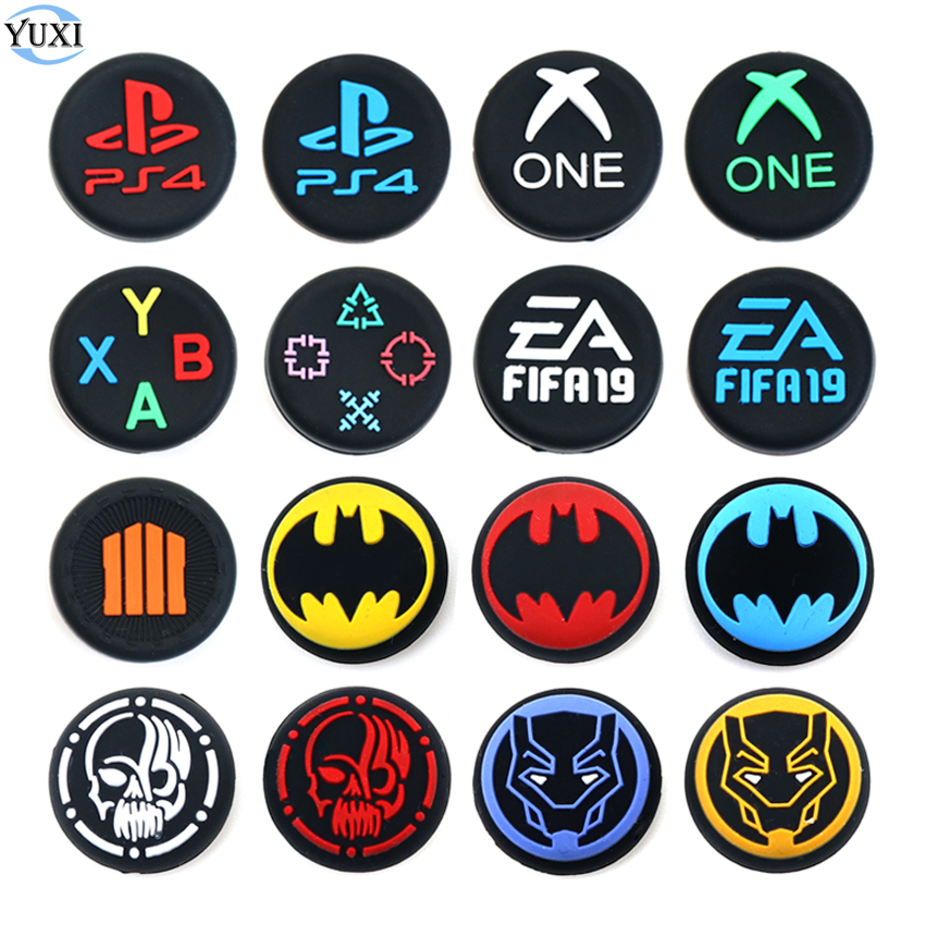 YuXi 2pcs For PS3 PS4 Slim Pro Controller Thumb Silicone Stick Grip Cap Cover for XBOX ONE 360 for Switch Pro Accessories