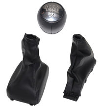 Chrome carro shift gear knob boot capa travão de mão boot gaiter para vauxhall opel astra f 1991 1992 1993 1994 1995 1996 1997 1998