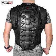 WOSAWE Motorcycle Jacket Men Full Body Armor Motocross Racing Protective Gear Chest Protection Off road Anti drop Jacket