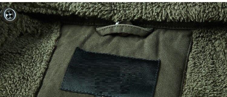 2019 New Arrival fashion men winter jacket coat turn down collar cashmere fleece warm overcoat zipper outfits plus size topM 4XL - 3