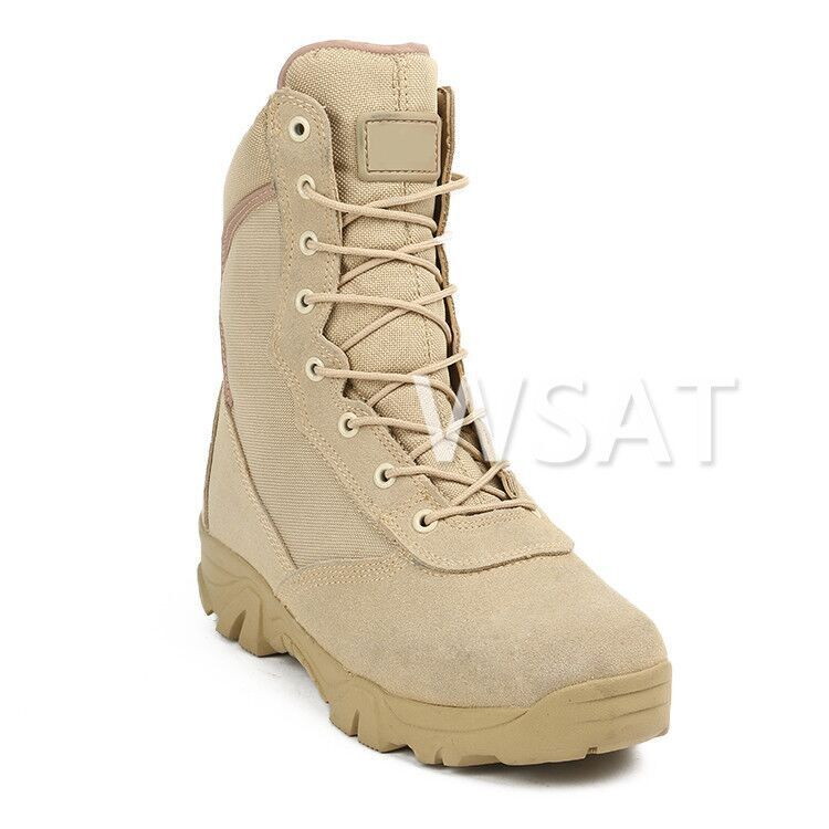 Cross Border Supply Of Goods Manufacturers Wholesale Special Forces Combat Boots Men's Outdoor Casual Combat Boots Hight-top Bre