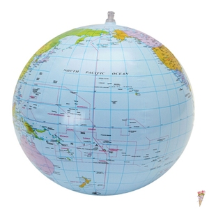 1pcs 30cm Inflatable Globe World Earth Ocean Map Ball Geography Learning Educational Beach Ball School accessories